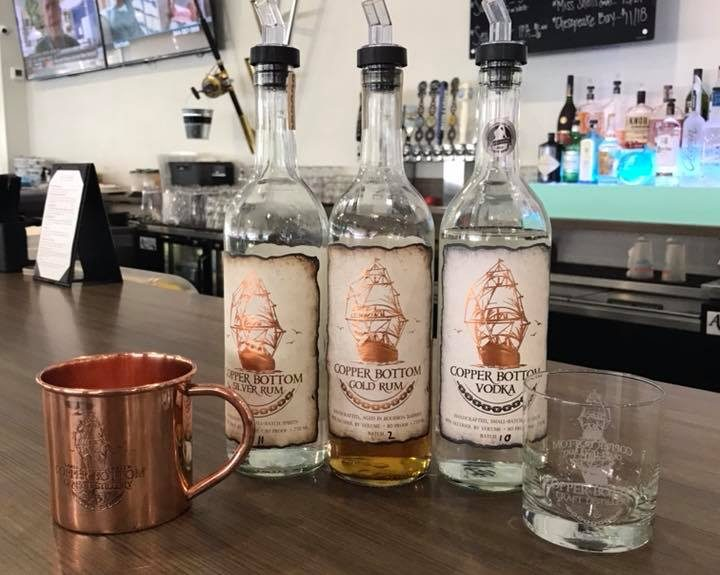 Proudly Featuring Copper Bottom Craft Distillery Spirits in Hull's Seafood Restaurant